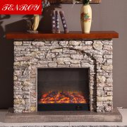 Rock-Like European Electric Fireplace
