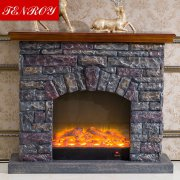 European retro classic imitation stone electric fireplace