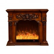American solid wood carved Roman pillar fireplace