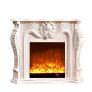 Carved simulation fire heating electric fireplace