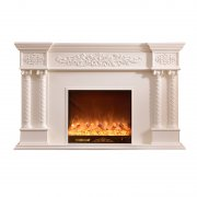 Resin carved simulation flame electric fireplace